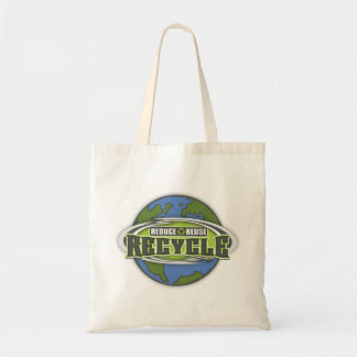 Earth Reduce, Reuse and Recycle Budget Tote Bag