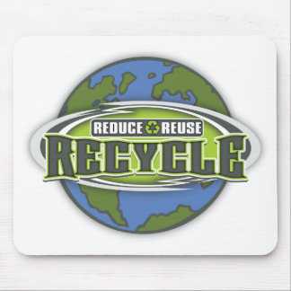 Earth Reduce, Reuse and Recycle Mouse Pad