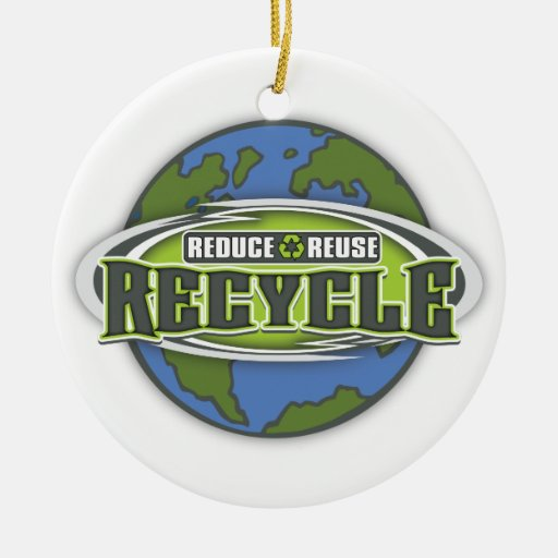 Earth Reduce, Reuse and Recycle Christmas Ornament
