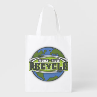 Earth Reduce, Reuse and Recycle Grocery Bag