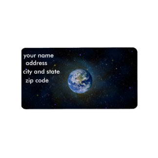 Earth Return Address Lables Address Label