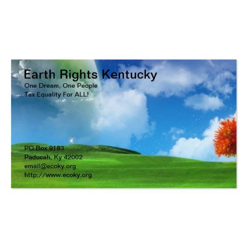 Earth Rights Kentucky Business Cards