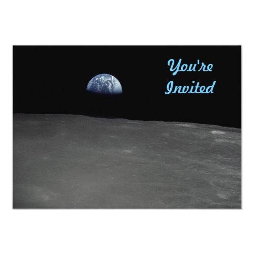 Earth Rise 5x7 Paper Invitation Card