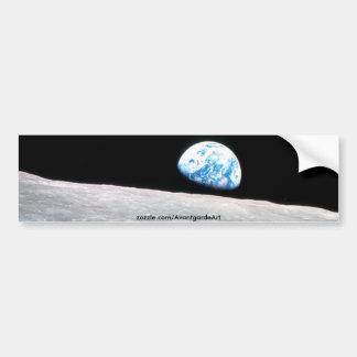 Earth rise car bumper sticker