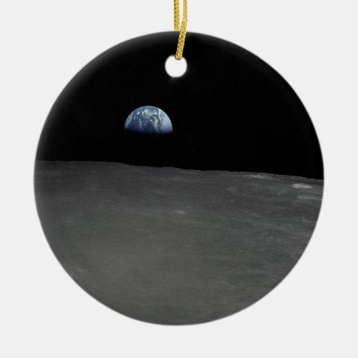 Earth Rise Christmas Tree Ornament