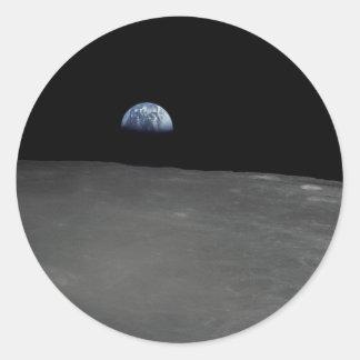 Earth Rise Classic Round Sticker