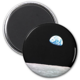 Earth rise 2 inch round magnet