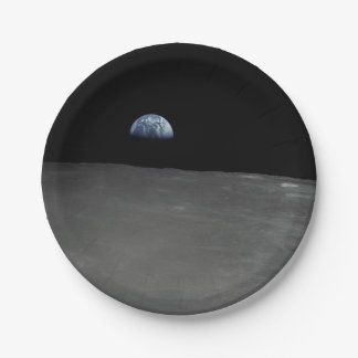 Earth Rise Paper Plate