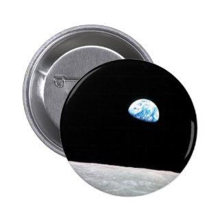 Earth rise pinback button