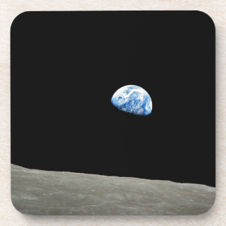 Earth Rises From Moon Beverage Coaster