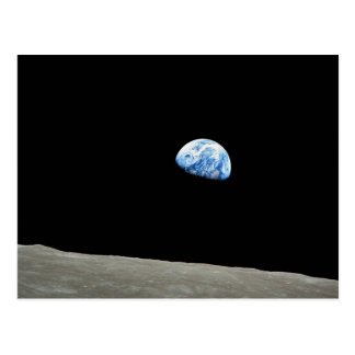 Earth Rises From Moon Post Card