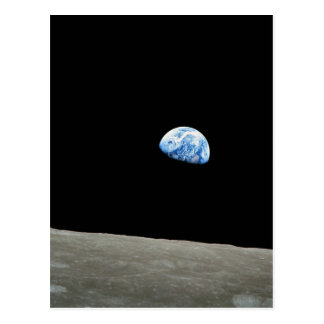 Earth Rises From Moon Postcard