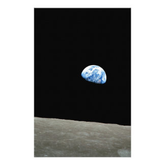 Earth Rises From Moon Stationery Design