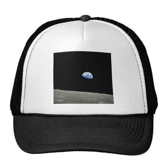 Earth Rises From Moon Trucker Hat