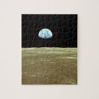 Earth rising over Moon Jigsaw Puzzle