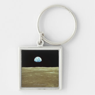 Earth rising over Moon Keychain