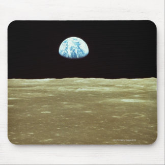 Earth rising over Moon Mouse Pad