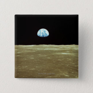 Earth rising over Moon Pinback Button