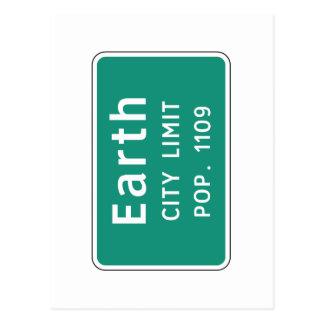Earth, Road Marker, Texas, USA Postcard