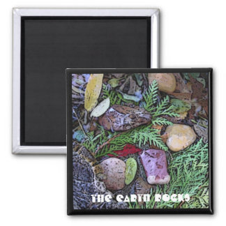 Earth Rocks Magnet in natural earth elements