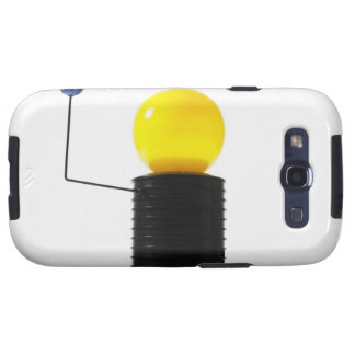 Earth rotating sun model on white background samsung galaxy SIII cases
