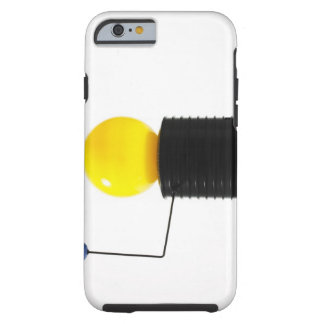 Earth rotating sun model on white background tough iPhone 6 case
