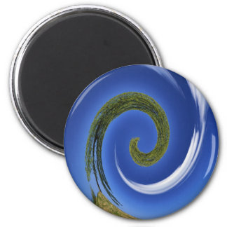 earth rotation 2 inch round magnet