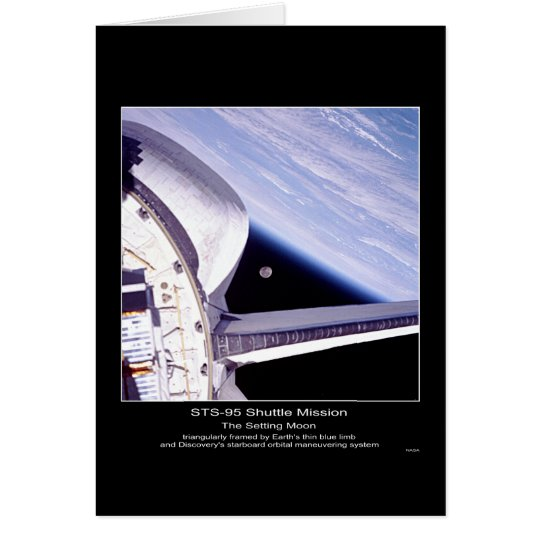 Earth's thin blue limb and Discovery's starboard Card