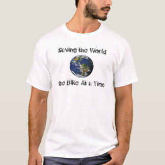 earth, Saving the World , One Bike At a Time T-Shirt