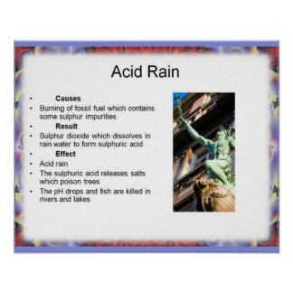 the environmental dangers of acid rain Effects of acid rain:  it means acid rain has many implications to the environment the increase of acid rain is persistently affecting the health of humans and .