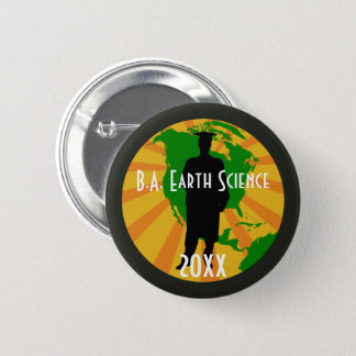 Earth Science Graduate Badge (Male) Button