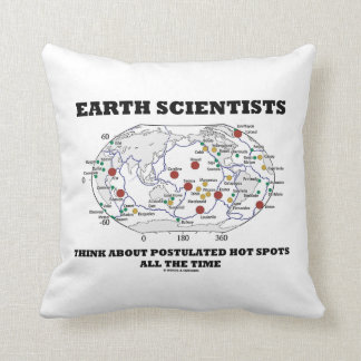 Earth Scientists Think About Postulated Hot Spots Throw Pillow