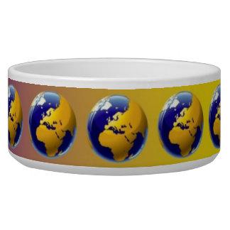 Earth seamless pattern bowl