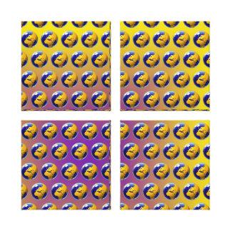 Earth seamless pattern canvas print