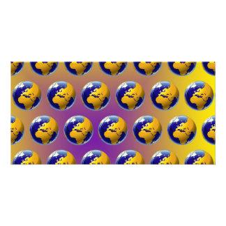 Earth seamless pattern card