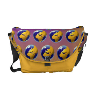 Earth seamless pattern courier bag