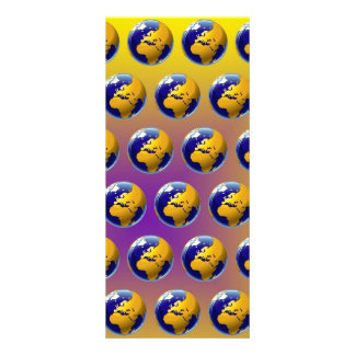 Earth seamless pattern personalized rack card
