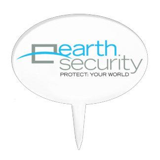 Earth Security  logo-wear Cake Pick