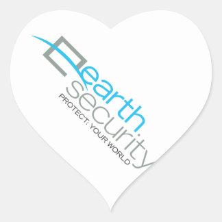Earth Security  logo-wear Heart Sticker
