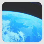 Earth Seen from a Satellite 2 Square Sticker