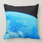 Earth Seen from a Satellite 2 Throw Pillows