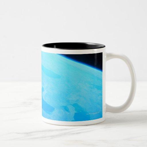Earth Seen from a Satellite 2 Two-Tone Coffee Mug
