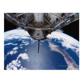 Earth seen from a Space Shuttle Postcard