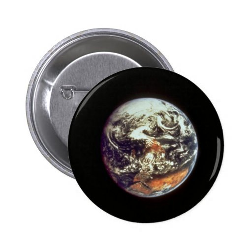 Earth, seen from Apollo 17, 1972, courtesy of NASA 2 Inch Round Button