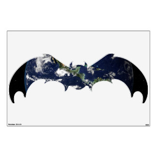 Earth seen from Apollo Mission Halloween Wall Sticker