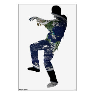 Earth seen from Apollo Mission Halloween Zombie Wall Decal