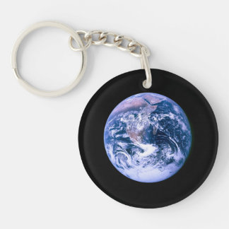 Earth Seen From Space 'Blue Marble' Double-Sided Round Acrylic Keychain