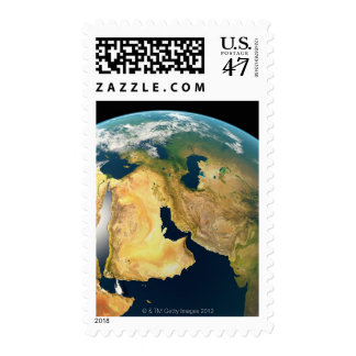 Earth Seen from Space Postage Stamp