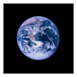 Earth Seen From Space Poster