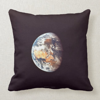 Earth Seen from Space Throw Pillows